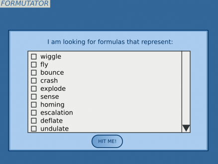 Formutator Search Page