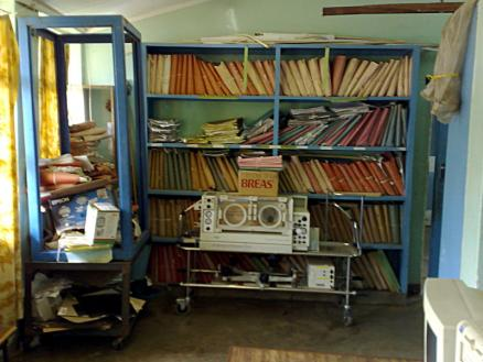 Paper Records: One of the driving forces behind implementing Baobab's patient-manage system in hospitals is to help reduce the problems associated with keeping paper records.  Here we see the destination of many records that are only a few years old.